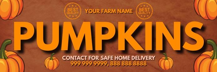 Pumpkin Shop Banner Template