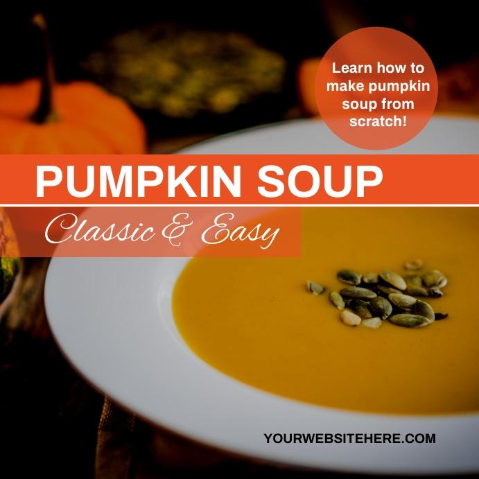 Pumpkin Soup Template Сообщение Instagram