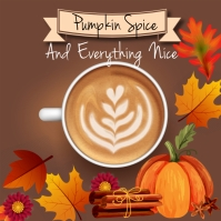 Pumpkin spice, fall, 1st day of fall Instagram Post template