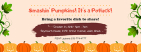 Pumpkins and Potluck Party Facebook Cover Image Template