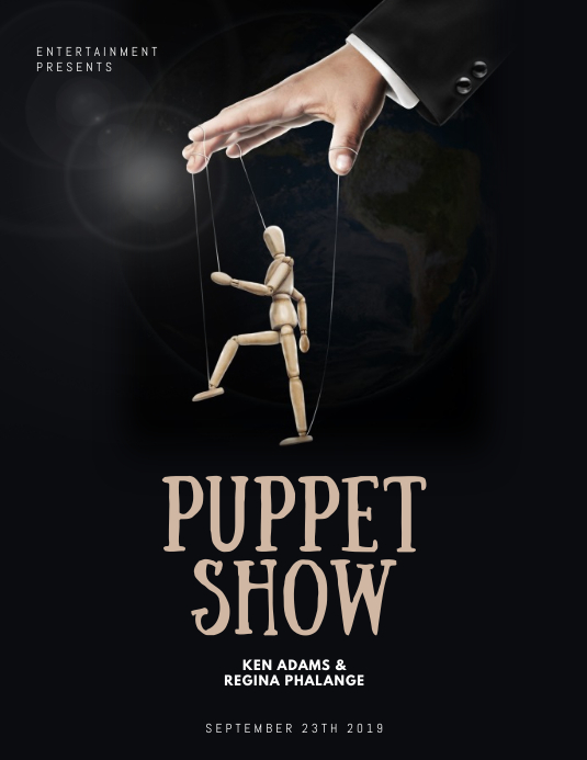 Puppet Show Flyer Template