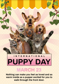 puppy day A4 template