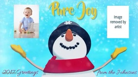 Pure Joy Snowman with Photos