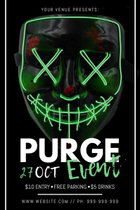 Purge Event Poster