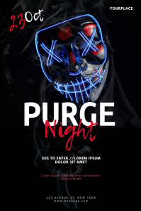 Purge night flyer design template
