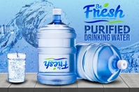 Drinking Water Banner 4' × 6' template