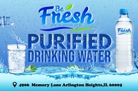 Purified Drinking Water Banner 4' × 6' template