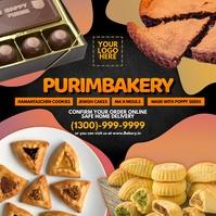 Purim Bakery Service 2021 Template Instagram-opslag