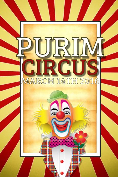 purim flyer template