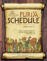 Purim Day Schedule