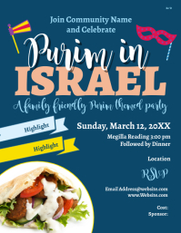 Purim in Israel Flyer (US-Letter) template