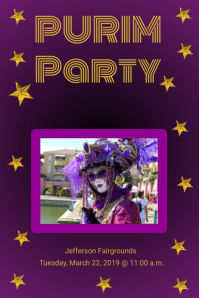 Purim Party Poster