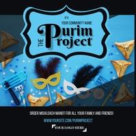 Purim Project Mishloach Manot โพสต์บน Instagram template