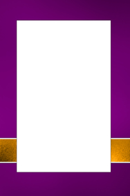 Purple & Gold Party Prop Frame