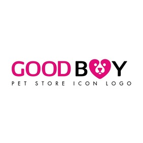 purple and black pet store icon logo template