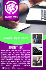purple and green multipurpose business flyer template