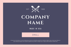 Purple and Pink Fashion Retail Label