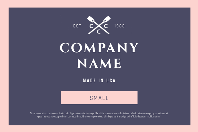 Purple and Pink Fashion Retail Label Этикетка template