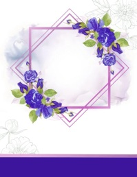 Purple and White Birthday Party Animated Invi Pamflet (VSA Brief) template