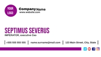 Purple and white business cards นามบัตร template