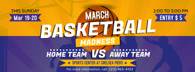 Purple and Yellow March Madness Facebook Cover template