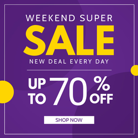 Purple and Yellow Sale Instagram Image