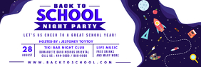 Purple Back to School Bash Banner