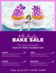 Purple Bake Sale Price List Template