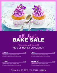 Purple Bake Sale Price List Template