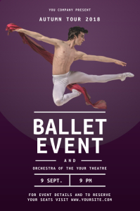 Purple Ballet Event Poster