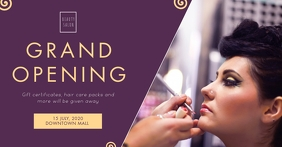 Purple Beauty Event Cover Image template