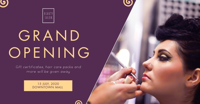 Purple Beauty Event Cover Image Ibinahaging Larawan sa Facebook template