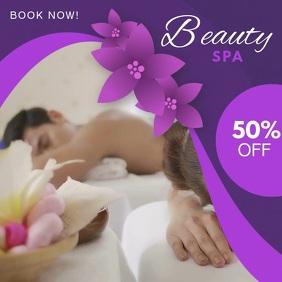 Purple Beauty Salon Video Ad