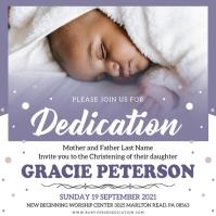 Purple Bible verse dedication invite Instagram Post template