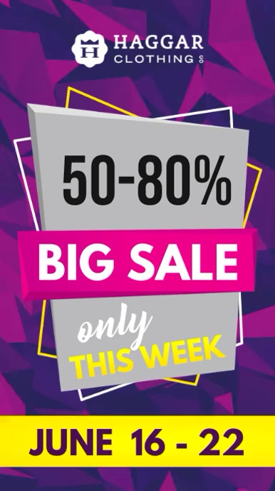 Purple Big Sale Digital Display Video