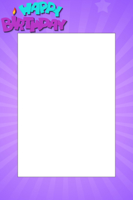 Purple Birthday Party Prop Frame