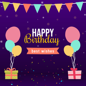 Customizable Design Templates for Birthday Wishes | PosterMyWall