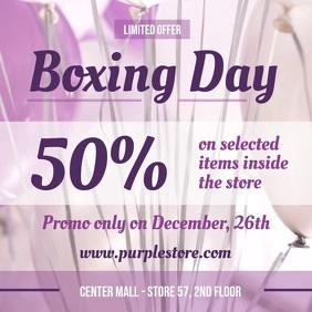 Purple Boxing Day Sale Square Video