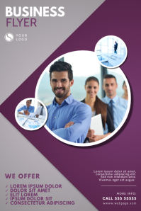 Purple Business Corporate Flyer Design