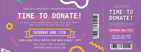 Purple Charity Event Ticket Facebook Cover