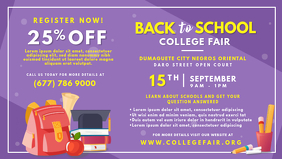 Purple College Summer Fair Banner