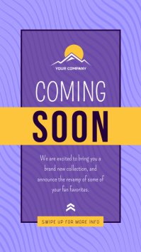 Purple Coming Soon Instagram Story template