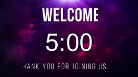 purple countdown welcome video Цифровой дисплей (16 : 9) template