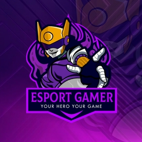 Purple Cyber Esports Team Gaming Logo