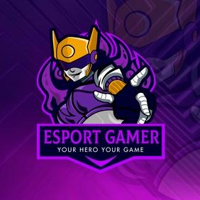 Purple Cyber Esports Team Gaming Logo