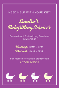 Purple Day Care Flyer Template