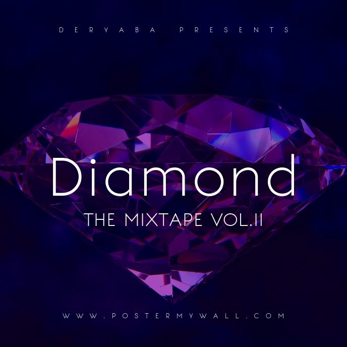 Purple Diamond Mixtape Cover Art Template