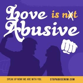 Purple Domestic Violence Instagram Image template