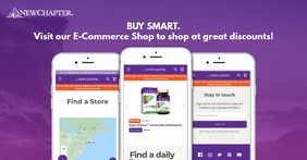Purple E-commerce Store Facebook Shop Cover template