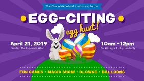 Purple Easter Egg Hunt Facebook Video template